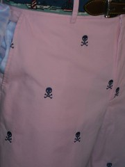 Preppy skull & crossbones pants