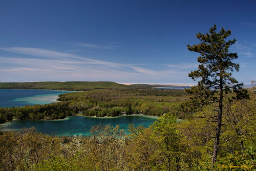 Glen Lake, Springtime View From Miller Hill
