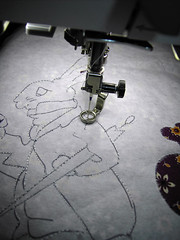 free motion embroidery - step 2