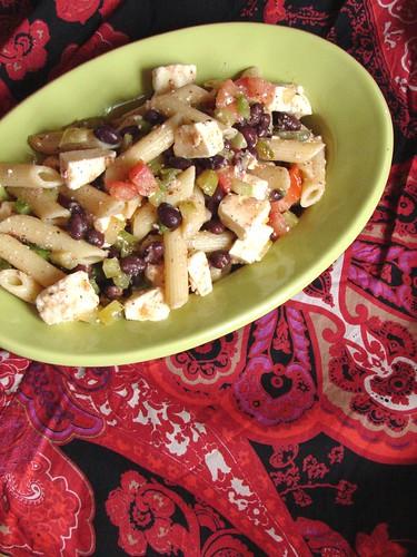 Black Bean, Feta & Penne pasta Salad
