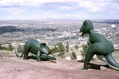 Dinosaur Park, Rapid City, South Dakota 1961 (bcgreeneiv) Tags: color film southdakota 35mm vintage geotagged slide slides rapidcity dinosaurpark 10million 10millionphotos