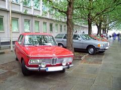 BMW 1800 + W123 Kombi (ifa.zweitakt) Tags: berlin car demo mercedes benz voiture demonstration german oldtimer stern mb daimler youngtimer feinstaub klassiker sternfahrt ifazweitakt