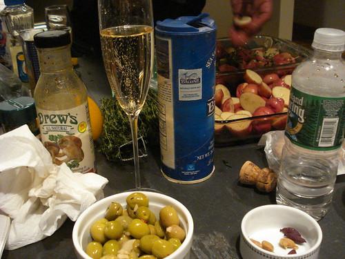 dinner party prep