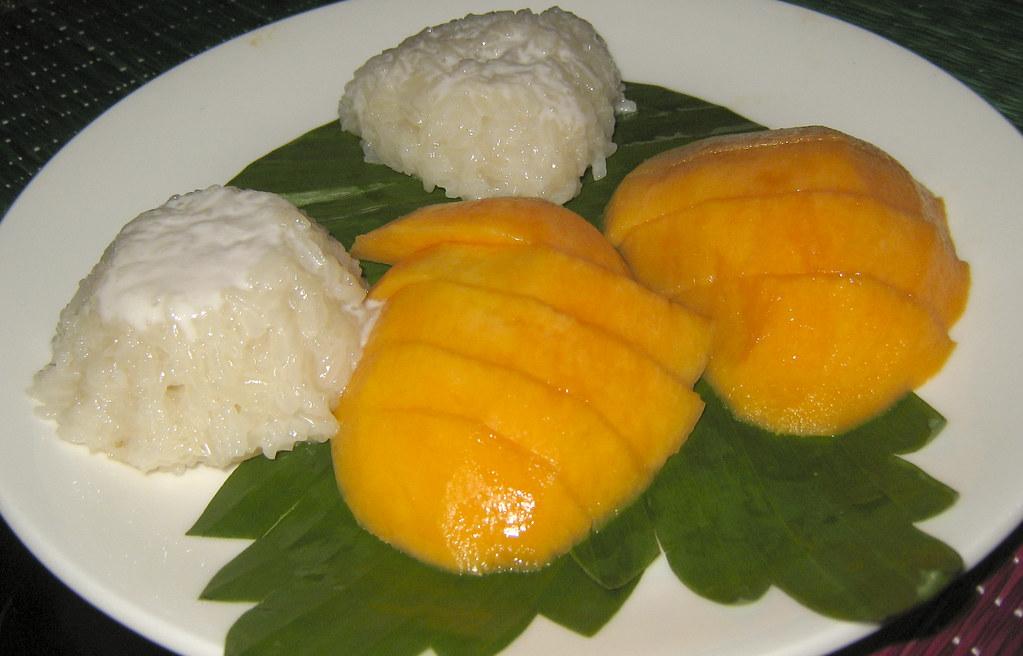 Riz gluant mangues