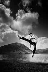 The Kick (Luis Montemayor) Tags: lake clouds lago jump kick explore cielo nubes salto volcan patada nevadodetoluca artlibre blackribbonbeauty spittinshells