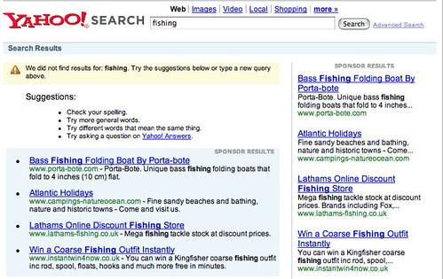 yahoo search uk down