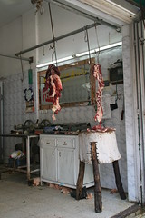 butcher shop hangs its meat (Michael.Loadenthal) Tags: israel cityscape palestine westbank incursion ism internationalsolidaritymovement israelipalestinianconflict israelandpalestine nablusregion balatarefugeecamp militaryinvasion westbankandgazastrip