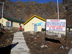 Highest Permanent Cyber Cafe' in the world!!!! (Manish Rahul Varma Namburi) Tags: india sikkim cybercafe namburi