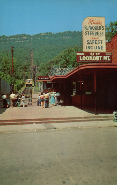 1950's oversized post card: Incline railroad