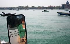 venice woman reflection water girl mirror andrea ships reflect venecia venezia