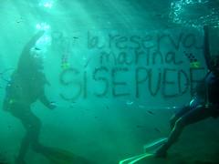 Pancarta submarina Teno