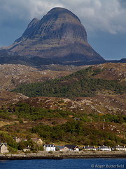 Lochinver & Suilven (Roger B.) Tags: mountain scotland sutherland 50200mm monadnock lochinver suilven assynt zd inverpolly inselberg imagekind onwebsite