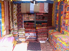 Brightly Colored Stall (locket479) Tags: india color shopping market delhi sightseeing stall fabric marketplace day6 multicolor newdelhi dillihaat delhitour delhihaat