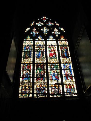 Una vetrata della cattedrale