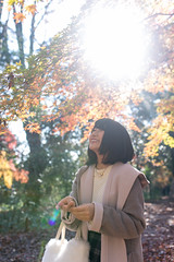 Young woman walking in autumn foliage in the morning (Apricot Cafe) Tags: img9428 20s asianethnicity japan japaneseethnicity sigma35mmf14dghsmart autumn autumnleaves beautyinnature change charming cheerful enjoying foliage freshness happiness hope japanesefallfoliage japanesemaple leaves lensflare mapleleaf morning nature oneperson onlywomen outdoors people refreshing selectivefocus sunlight tranquility traveldestinations walking woman youngadult kytoshi kytofu jp