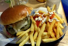 Calypso Burger & Chips (Tony Worrall) Tags: add tag ©2016tonyworrall images photos photograff things uk england food foodie grub eat eaten taste tasty cook cooked iatethis foodporn foodpictures picturesoffood dish dishes menu plate plated made ingrediants nice flavour foodophile x yummy make tasted meal calypso burger chips