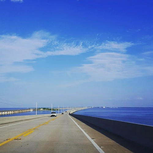 View from the top of the Seven Mile Bridge