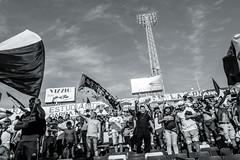 EM10-102016_Aniversario30GB-007 (Pablo Dalien) Tags: football futbol barrabrava hooligans colocolo chile estadio stadium people celebration flags fans fanatismo fanatic happy blackandwhite streetphotography santiago life style