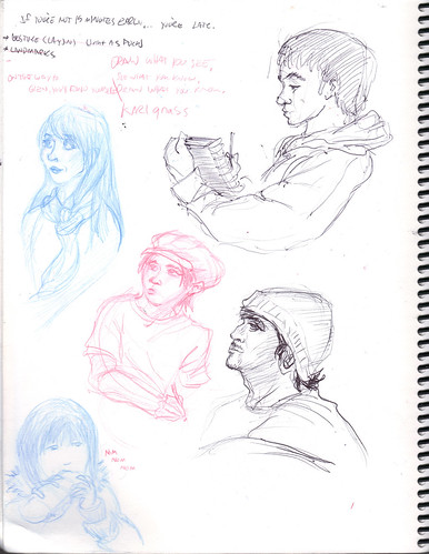 sketchbook page faces1