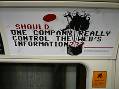 Ask.com anti-Google campaign on the London tube