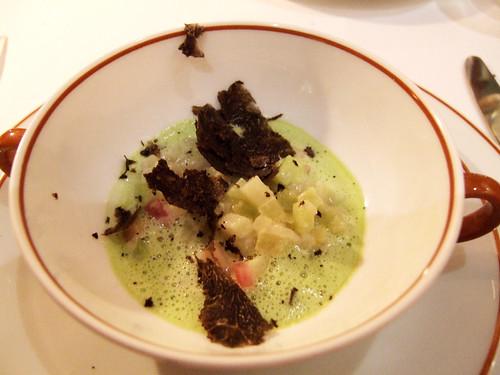l'Arpege (Paris) - Celerisotto a la truffe noire de coteaux du Saumurois parigiano reggiano