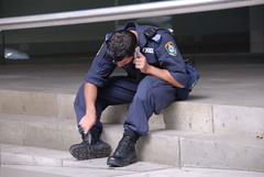 For the things the boot polish can't remove.... (Rob Buckley) Tags: boot nikon uniform sydney knife police australia nsw d200 policestate policeuniform nikond200 dickchaney policeboots tellbuckley policeboot robbuckley