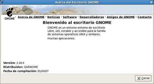 Pantallazo-Acerca del Escritorio GNOME 2.18