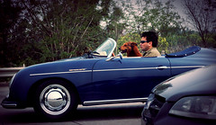Man's Best Friend (gia.nelli) Tags: dog man d50 nikon driving convertible american freeway theme jpg vote speedster