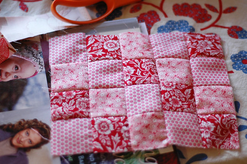 also a tiny quilt top