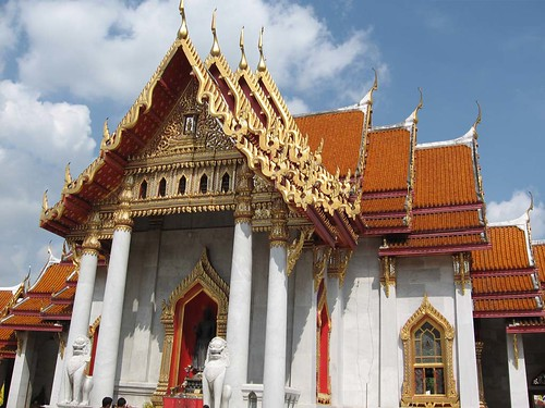 Famous Marble Temple at Bangkok - Thailand วัดเบญจมบพิตร