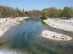 Sunbathing people (individual8) Tags: river germany munich island flaucher april isar 2007