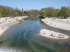 Sunbathing people (individual8) Tags: river germany munich island flaucher april isar 2007
