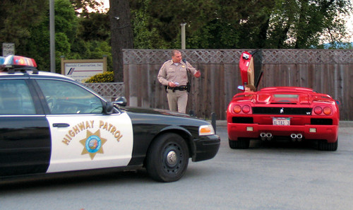 CHP and Ferrari