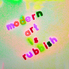 modern art is rubbish - by pinkangelbabe