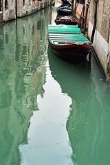Green reflections (iosart) Tags: travel venice italy green water reflections canal italia pick venezia venezsia