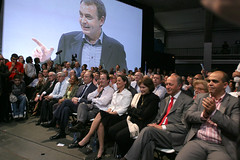 zapatero en meeting à Toulouse avecSégolène Royal
