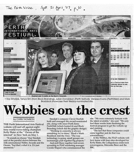 more press for the perth festival webby nomination