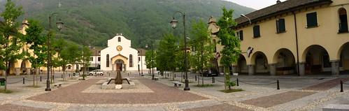 Courtyard in Villadossola, Italy