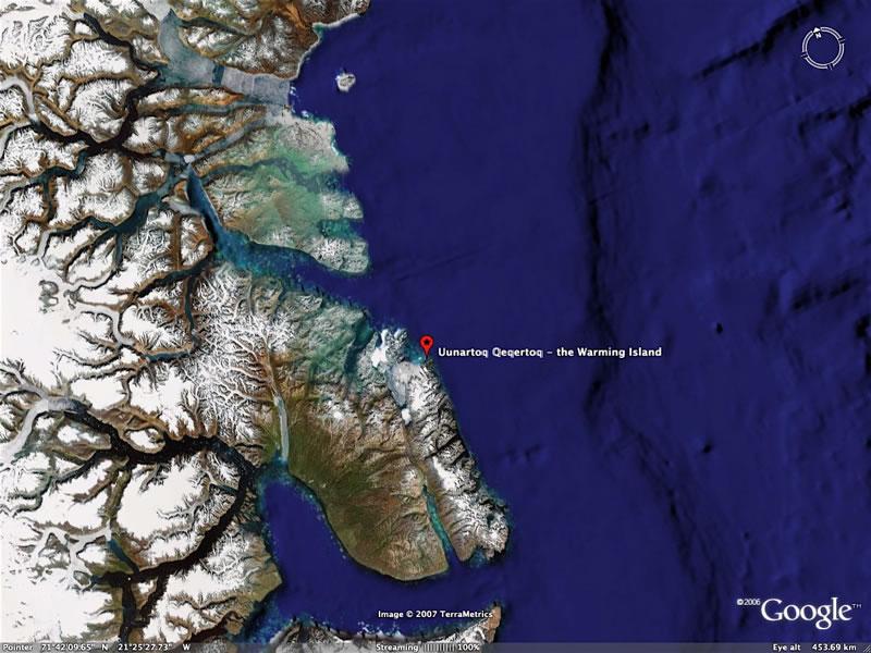 Uunartoq Qeqertoq, the Warming Island born off the coast of Greenland