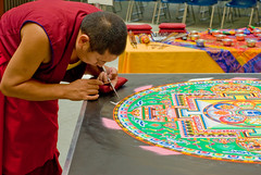 Tibetan Mandala Sand Painting-3801 (MattPenning) Tags: art monk buddhism mandala demonstration monks tibetan meditation enlightenment sandpainting vajrayana pentaxk10d tibetmonkmandala