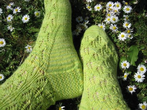 spring socks heel