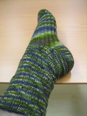 Side view of my first Inside Out sock