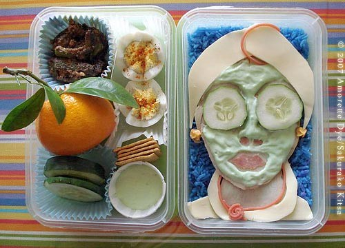Spa Bento by Flickr user Sakurako Kitsa. Click image to view source.