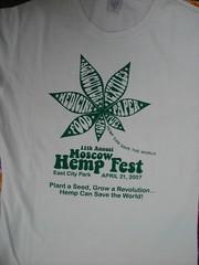 Front of Hempfest Shirt