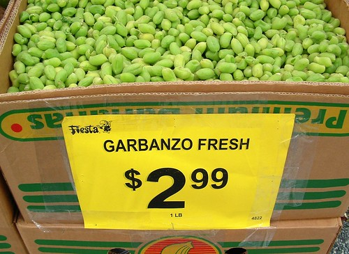 fresh garbanzos