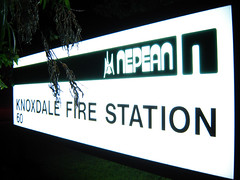 200607_06_05 - Knoxdale Fire Station (bnjmnwood) Tags: station sign fire pod nepean knoxdale weiting 4x3 cybershots90