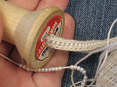 OOh! Beaded Spool-Knitting!