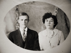 vintage man and woman from england (deflam) Tags: wedding portrait england woman man english vintage married husbandandwife familyphotos doubleportrait manandwife
