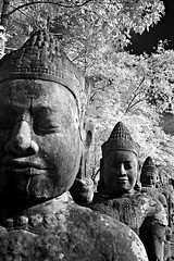 Angkor Thom - Angkor in B&W  (hk_traveller) Tags: travel bw white black canon ir photo asia cambodia flickr explore turbo filter siem reap thom infrared g1 angkor  canong1 093    top500    turbophoto
