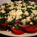 Tomato, onion, feta salad